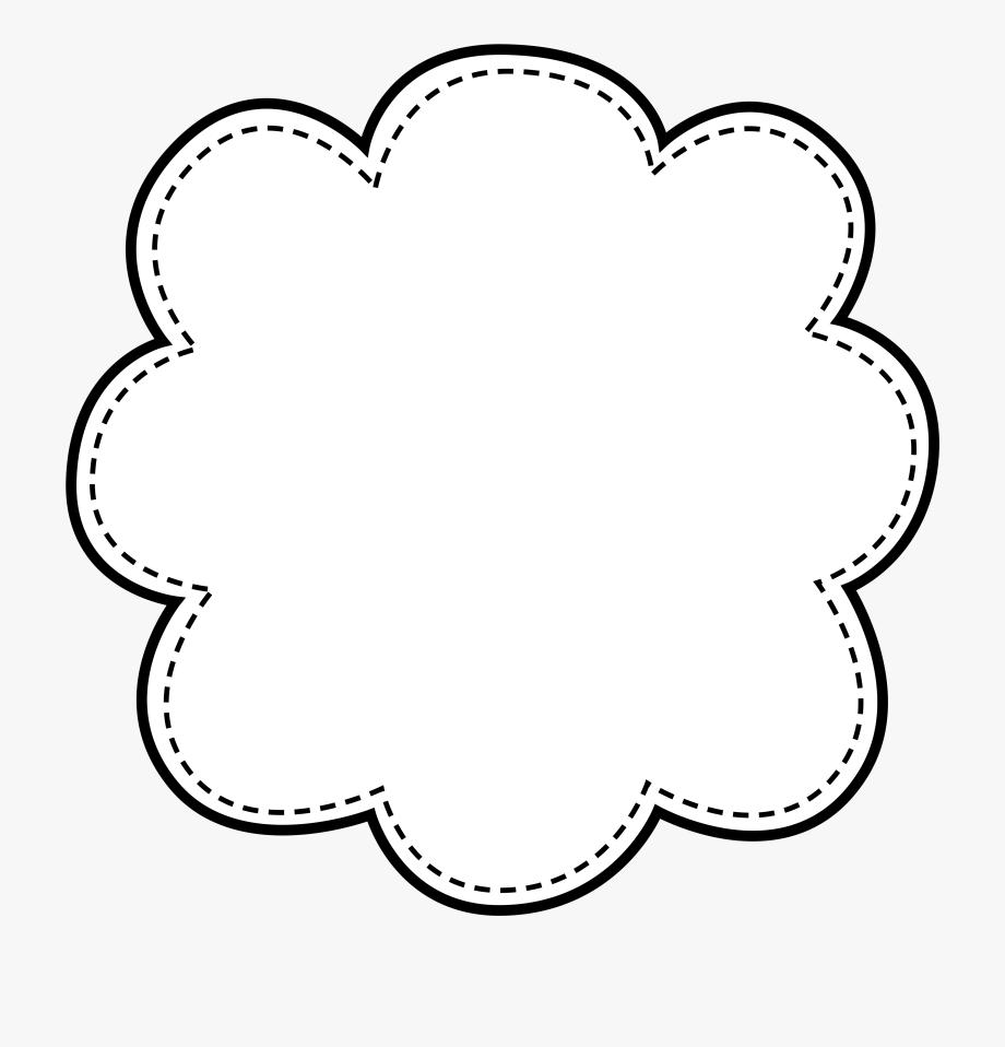 Boarder clipart black and white. Shapes doodle frame border