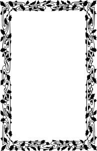 Boarder clipart black and white. Borders incep imagine ex