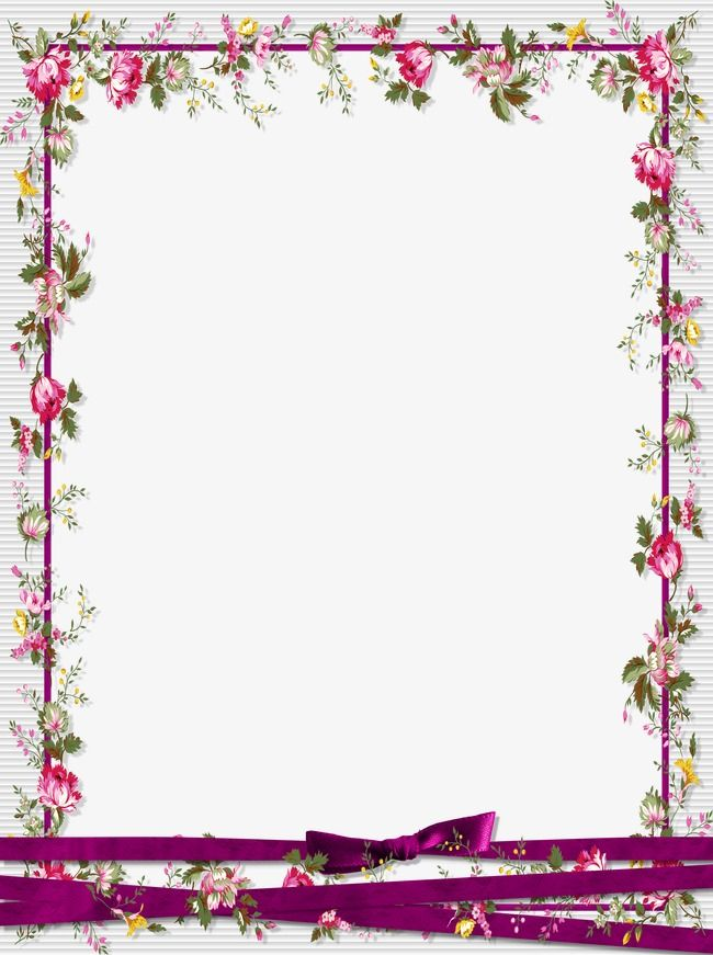 Floral graphic flowers frame. Boarder clipart border design