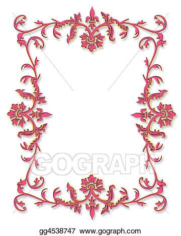 Pink d stock illustration. Boarder clipart border design
