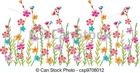 Flower border line design. Boarder clipart borderline