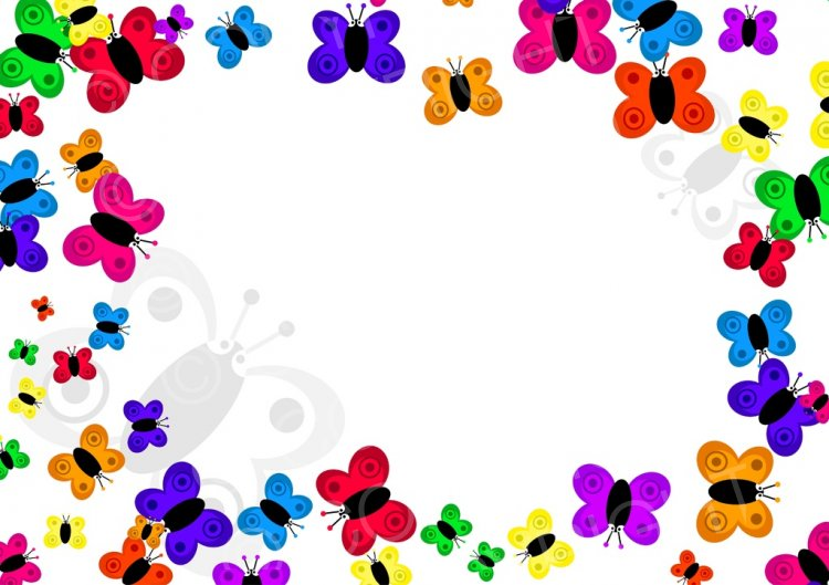 Boarder clipart butterfly. Cartoon page border prawny