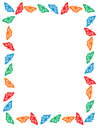 Boarder clipart butterfly. Border color hd wallpapers