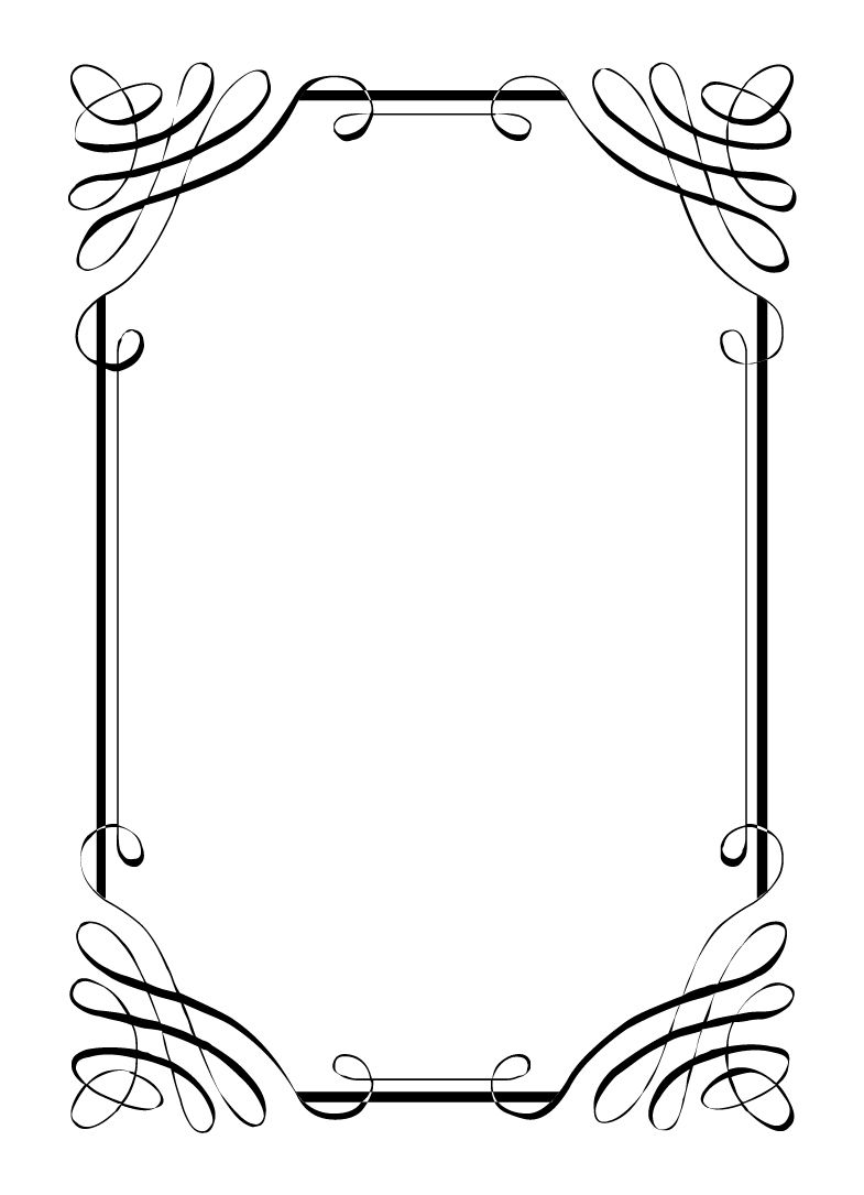 Free vintage clip art. Boarder clipart calligraphy
