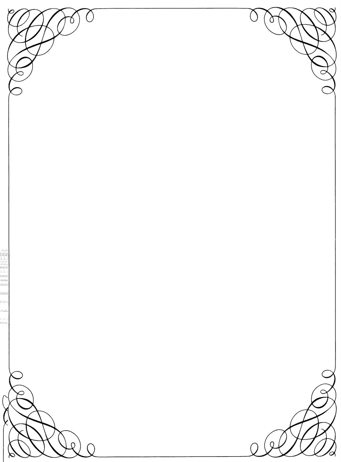 Boarder clipart calligraphy. Free microsoft borders and