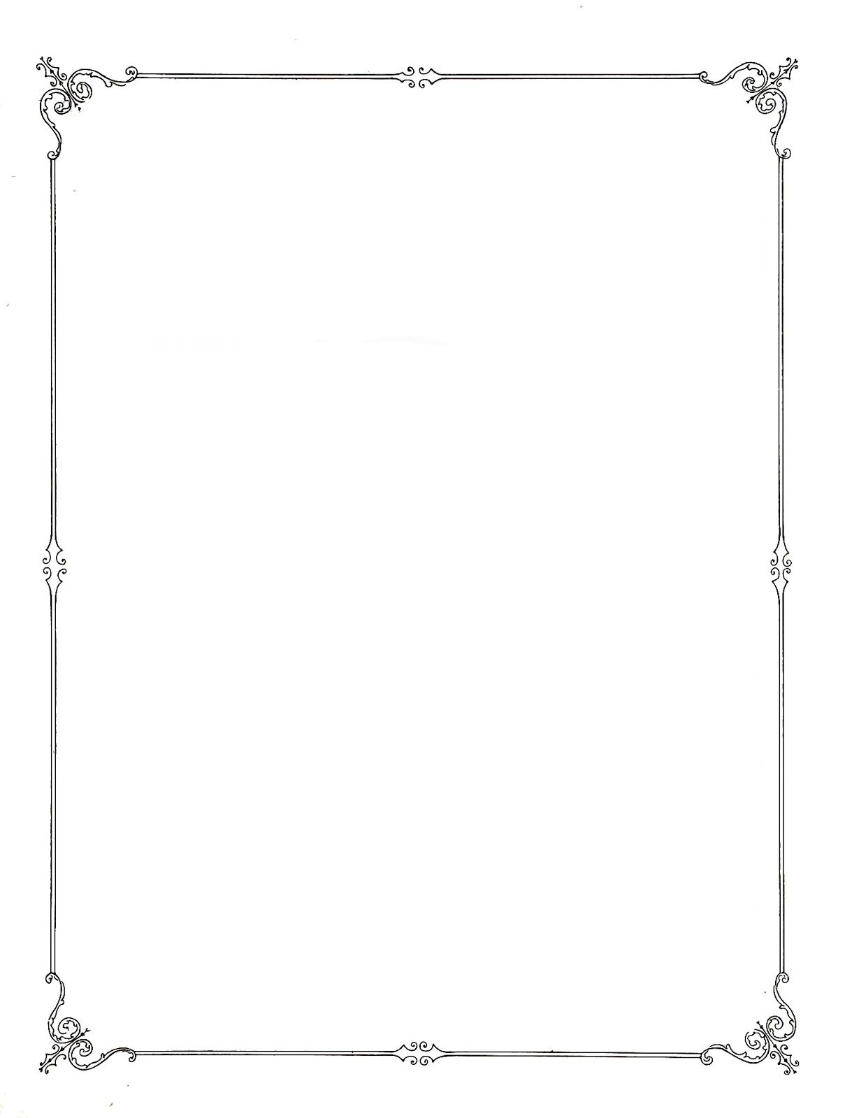 Simple elegant page borders. Boarder clipart classy