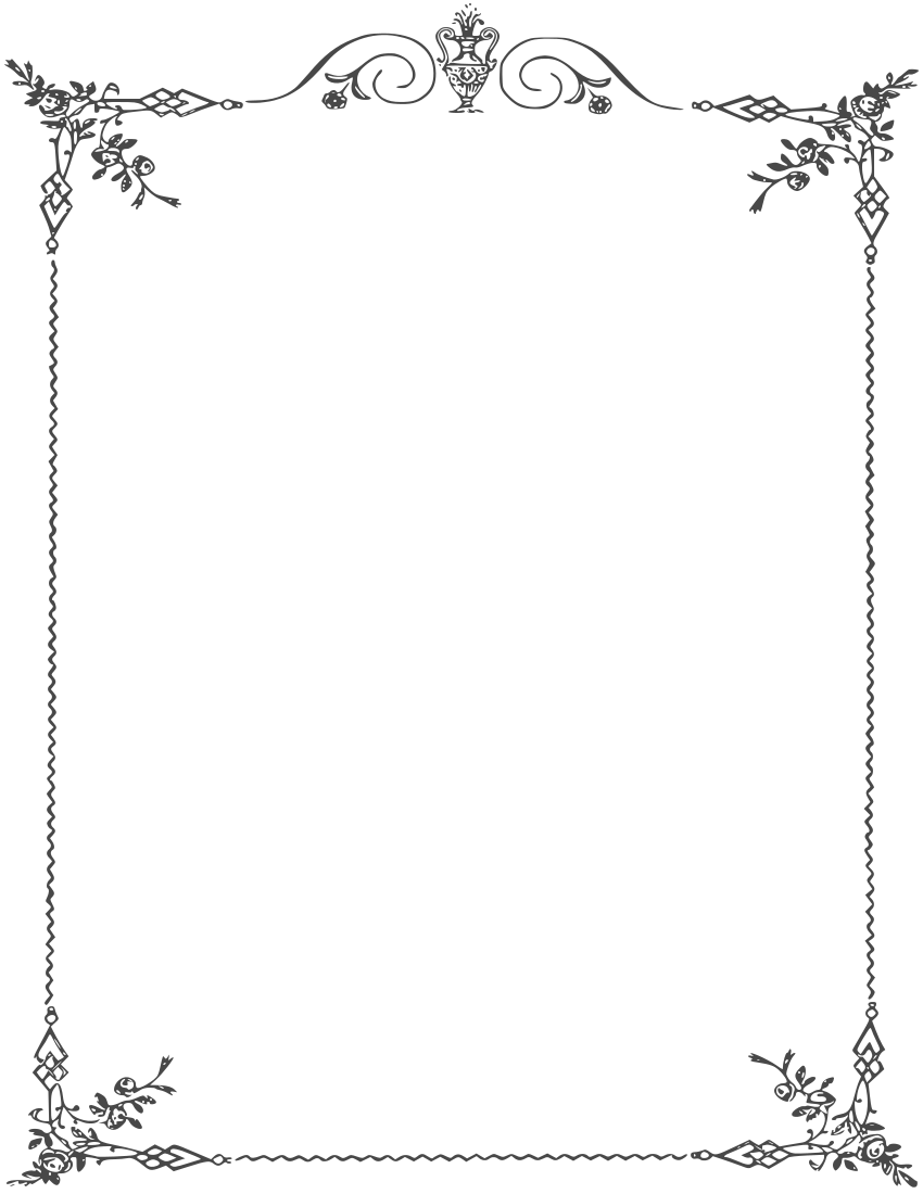 Elegant page borders pinteres. Boarder clipart classy