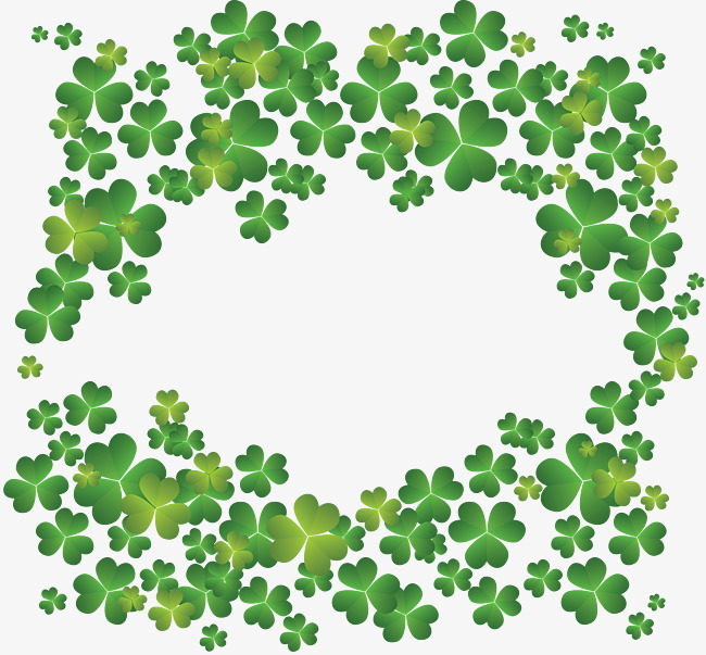 Creative texture material background. Boarder clipart clover