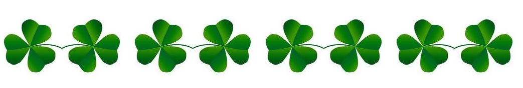 St patrick s day. Boarder clipart clover