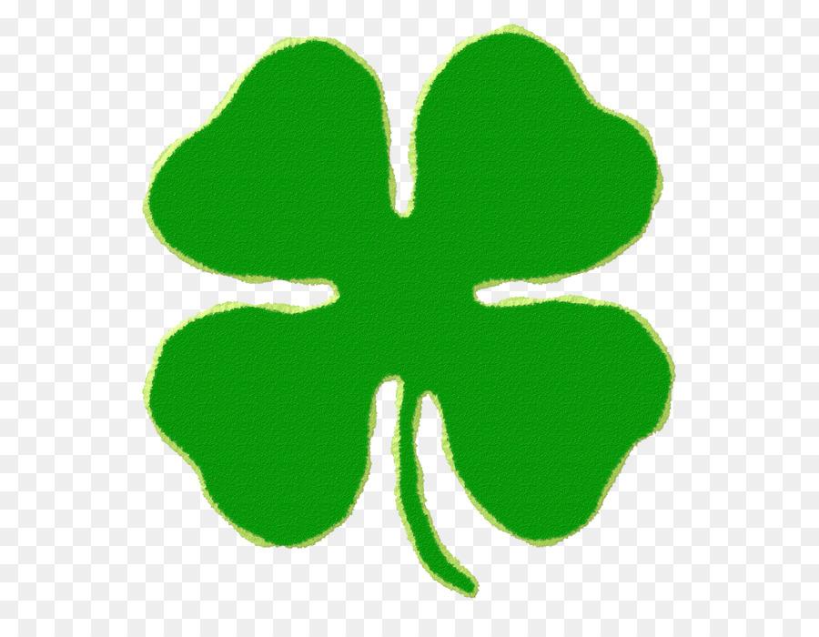 Four leaf saint patrick. Boarder clipart clover
