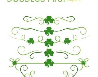 Boarder clipart clover. Etsy simple borders clip