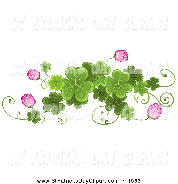 Boarder clipart clover. Clip art of a