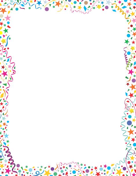Printable border free gif. Boarder clipart confetti