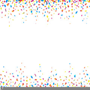 Border horizontal free images. Confetti clipart boarder