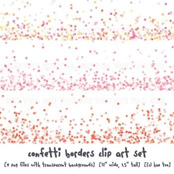 Boarder clipart confetti. Border clip art images