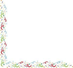 Confetti clipart boarder. Free clip art image