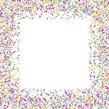 Border png vector psd. Confetti clipart boarder