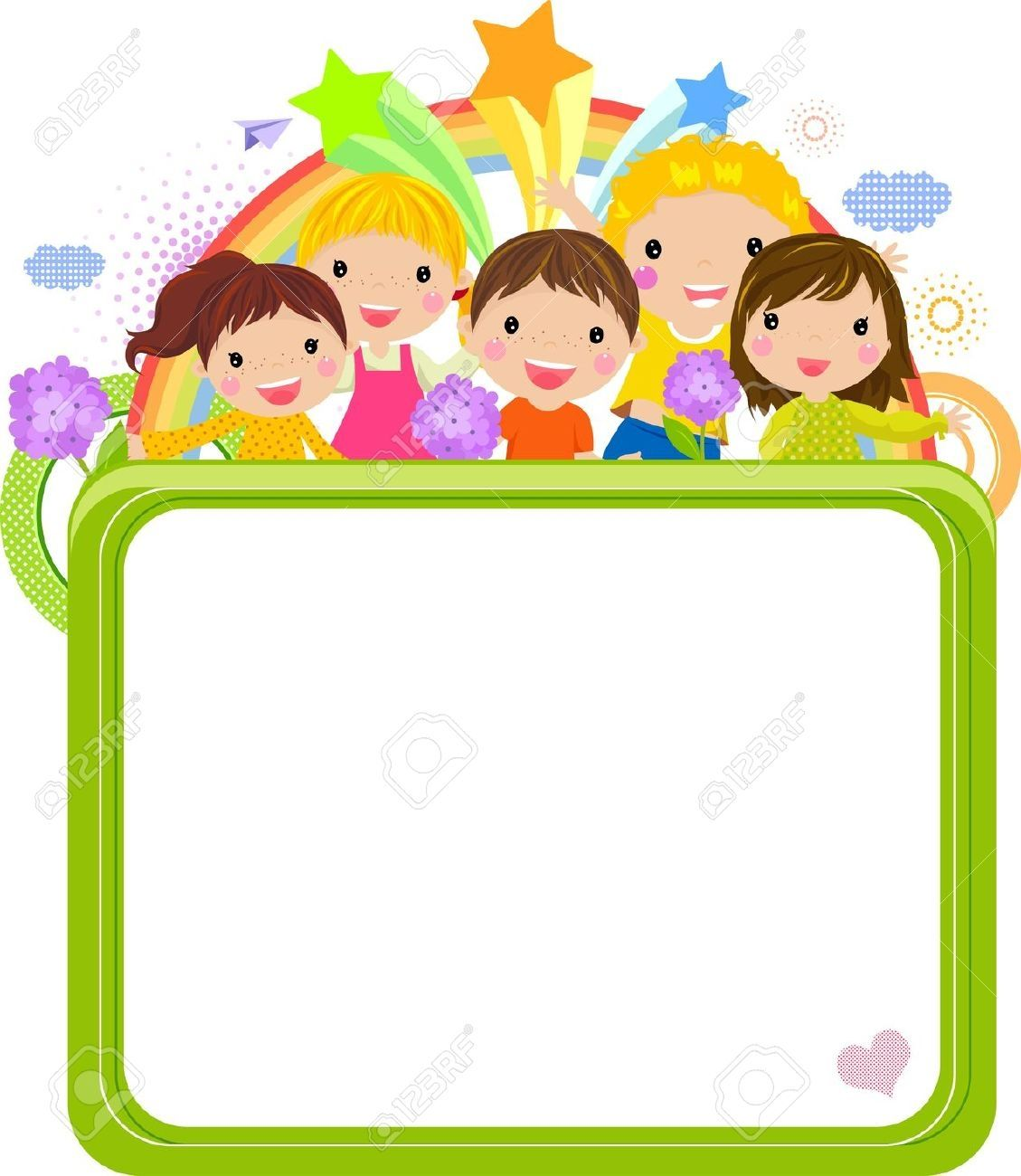 School border background ppt. Boarder clipart cute
