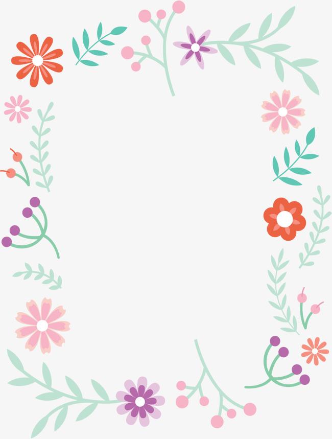 Small fresh borders vector. Boarder clipart cute