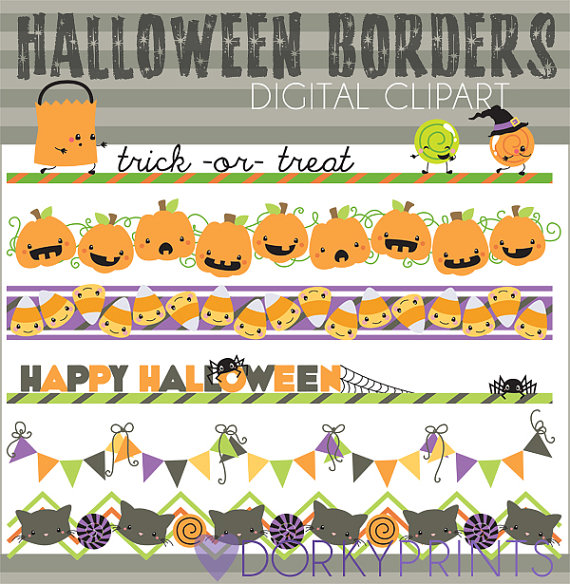 Boarder clipart cute. Halloween borders personal and