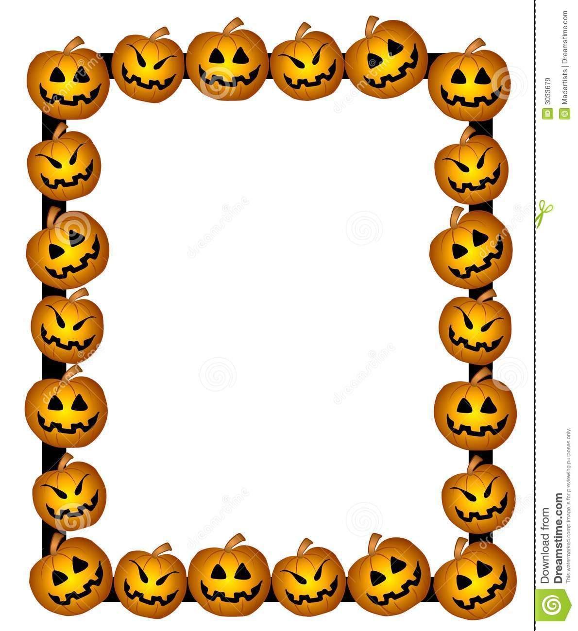 Pumpkin border cyberuse clip. Boarder clipart cute