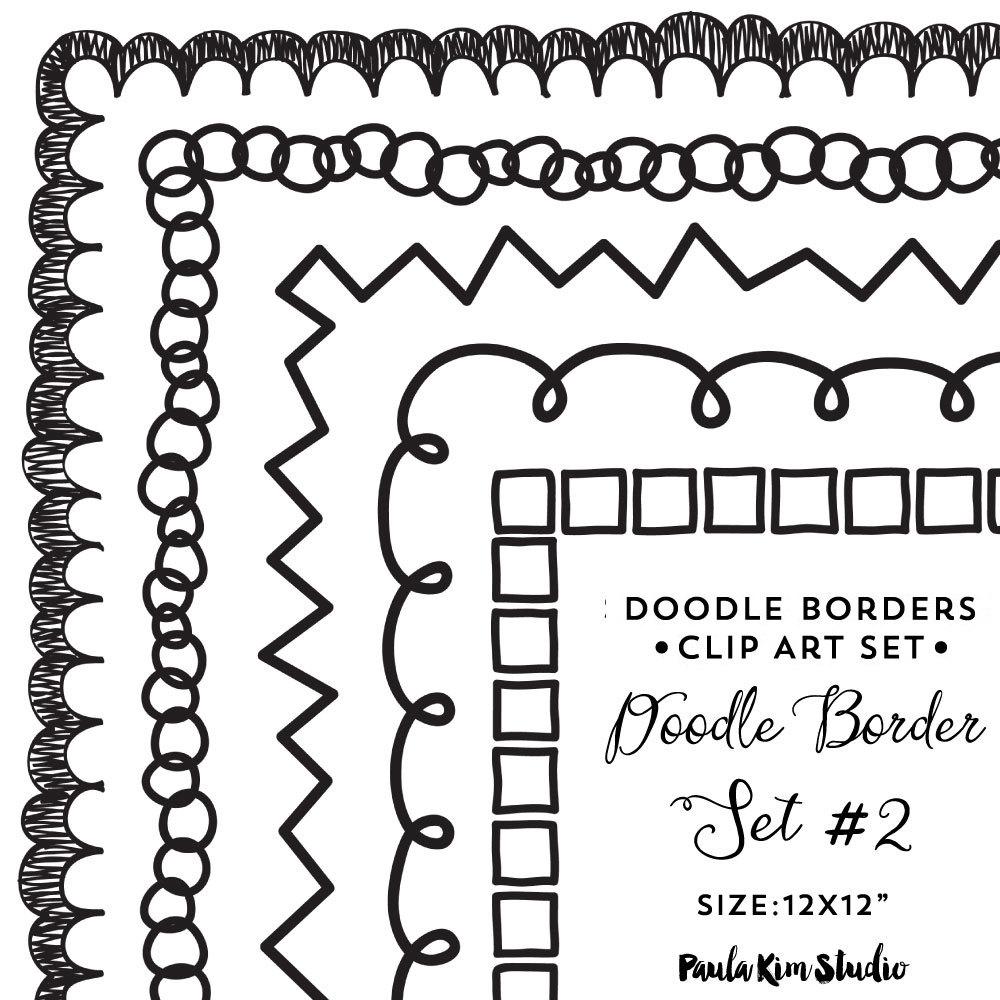 Border clip art downloadable. Boarder clipart doodle