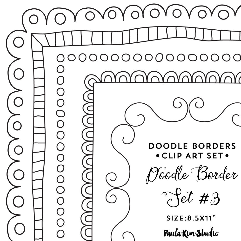 Border x frame clip. Boarder clipart doodle