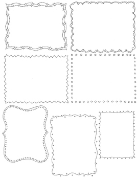 Boarder clipart doodle. Borders clip art pack