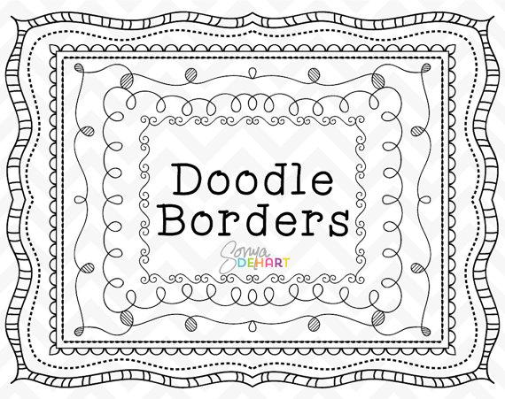 Boarder clipart doodle. Frames borders