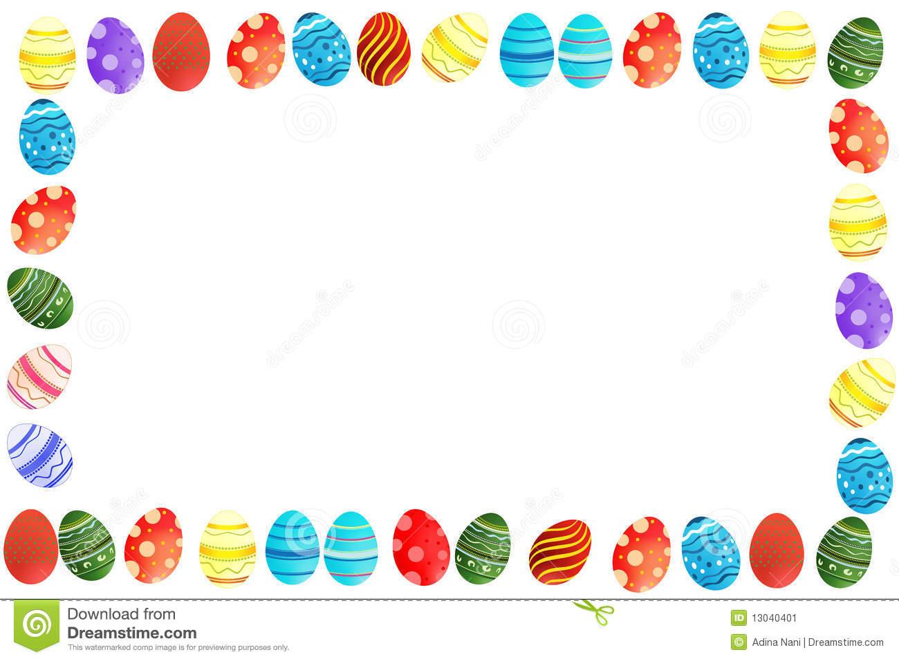 Boarder clipart easter egg. Border