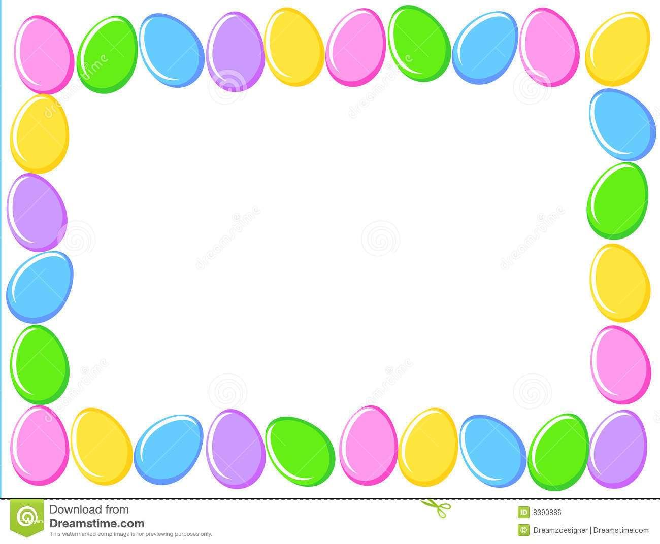 Eggs border elegant. Boarder clipart easter egg