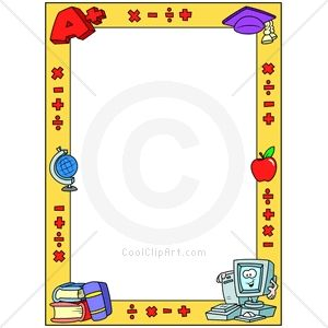 Boarder clipart education. Borders for word documents