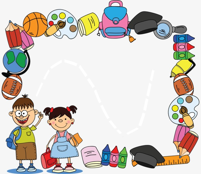 Stationery border learning hand. Boarder clipart education