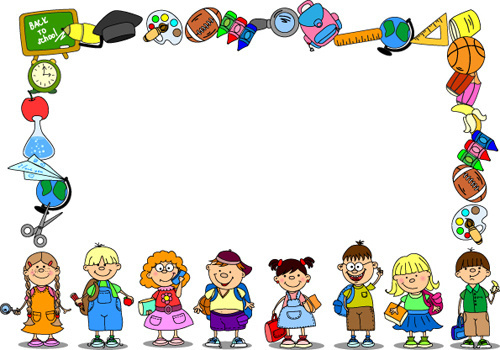 Borders station . Boarder clipart education