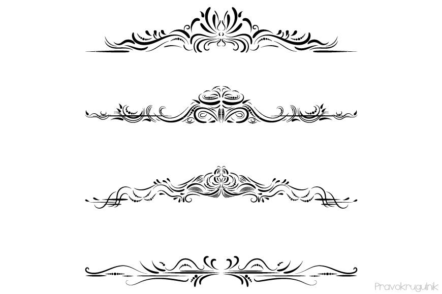 Boarder clipart elegant. Excellent design divider text