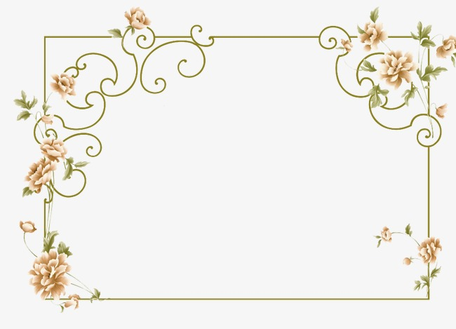 Boarder clipart elegant. Border frame flowers png