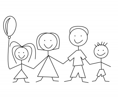 Stick black and white. Boarder clipart family
