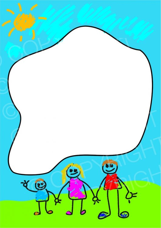Stick page border prawny. Boarder clipart family