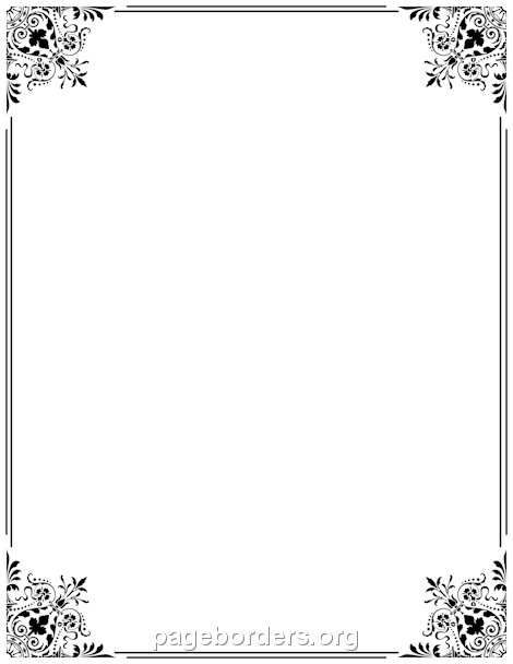 Border clipart fancy. Printable use the in