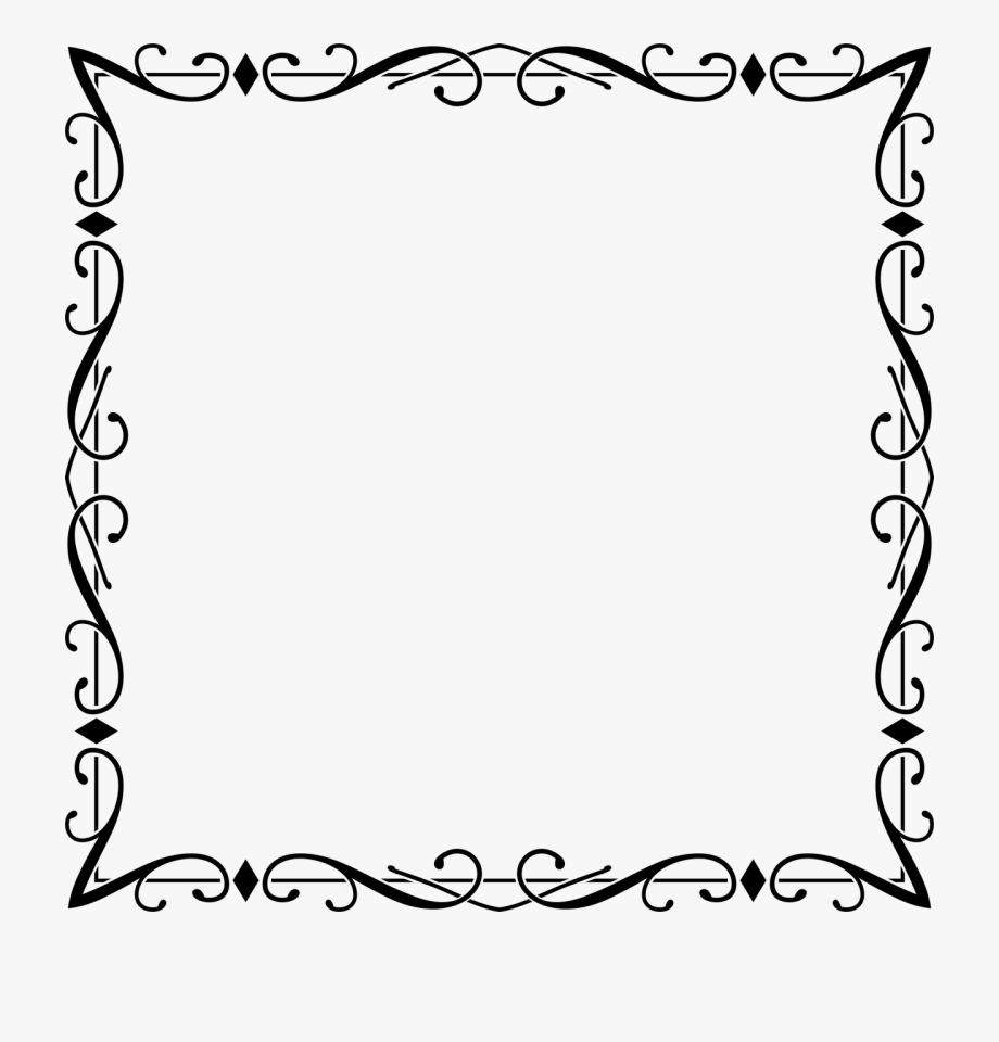 Flourish frame borders and. Boarder clipart fancy