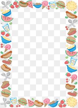 Border png images vectors. Boarder clipart food