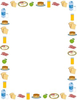 Boarder clipart food.  best borders images