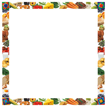 Frame clipart food. Free border cliparts download