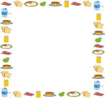 Boarder clipart food. Free border cliparts download