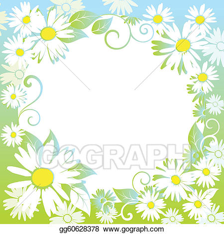 Eps illustration funny spring. Boarder clipart funky