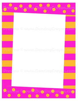 Fun and frames bright. Boarder clipart funky