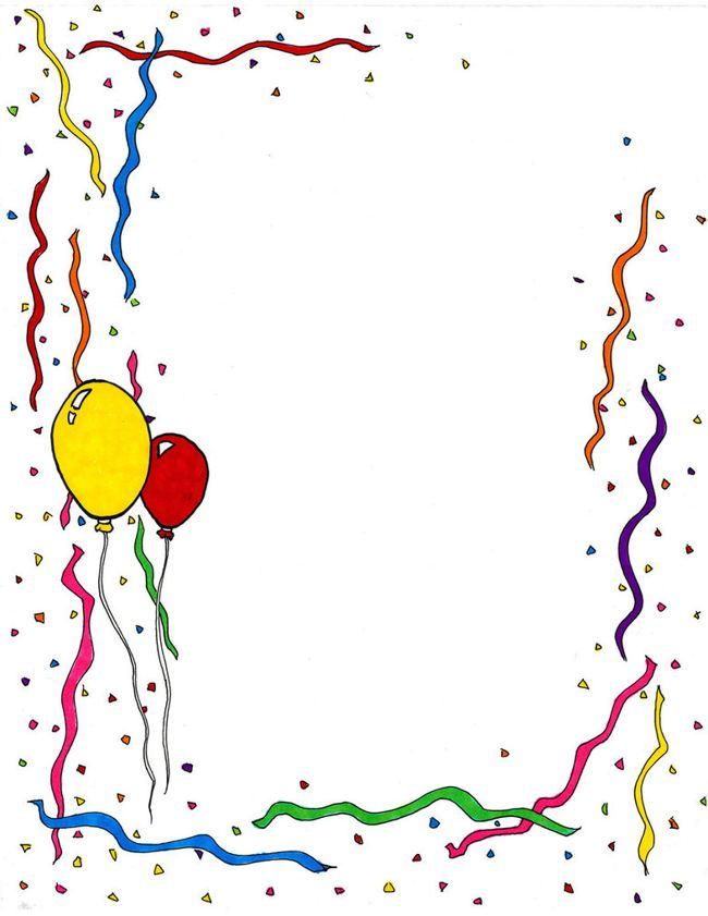 Boarder clipart happy birthday. Border clip art pictures