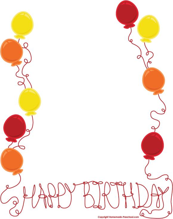 Border best wishes happybirthdayborderfreedownloadclip. Boarder clipart happy birthday