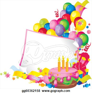 Free clip art borders. Boarder clipart happy birthday
