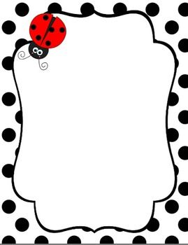 Backgrounds borders and digital. Boarder clipart ladybug
